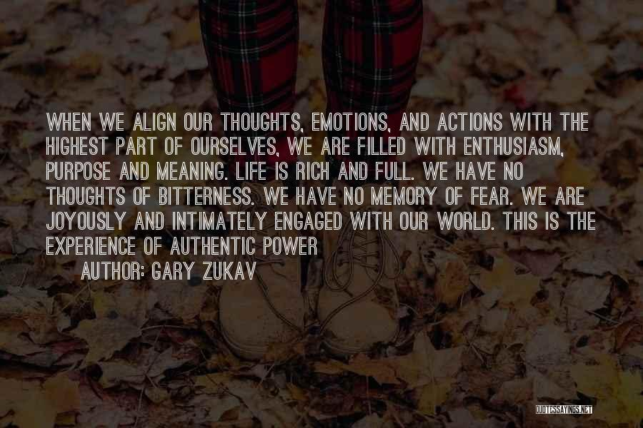 Emotions And Memories Quotes By Gary Zukav