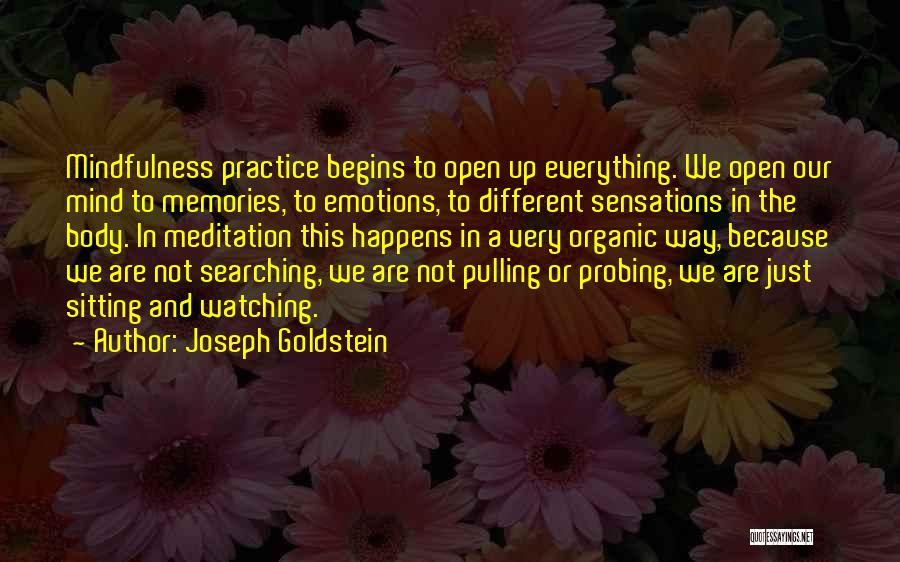 Emotions And Memories Quotes By Joseph Goldstein