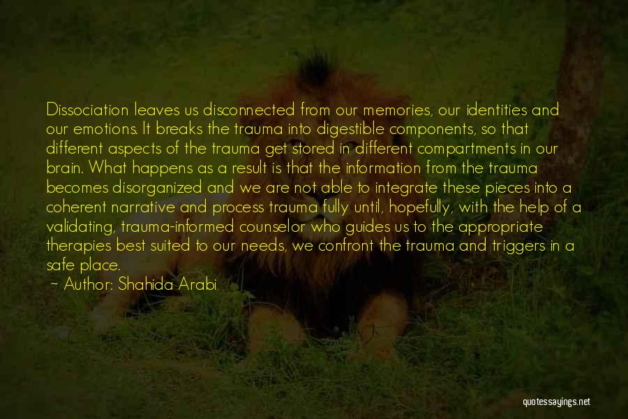 Emotions And Memories Quotes By Shahida Arabi