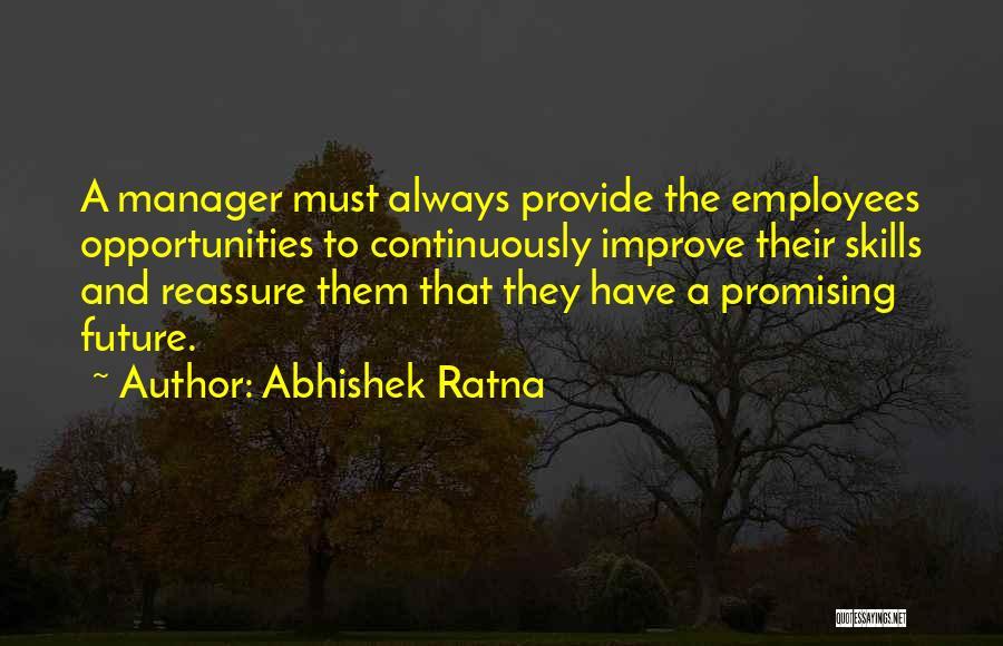 Employees Training Quotes By Abhishek Ratna