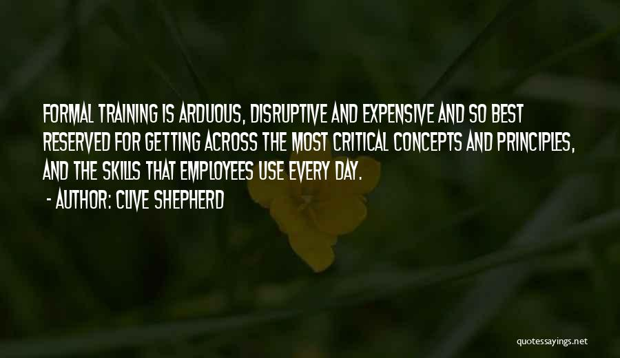 Employees Training Quotes By Clive Shepherd