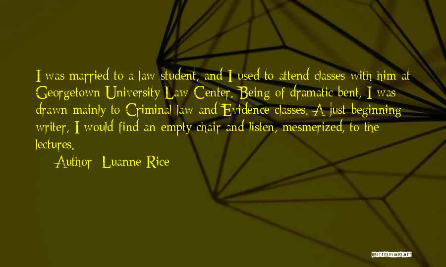 Empty Chair Quotes By Luanne Rice