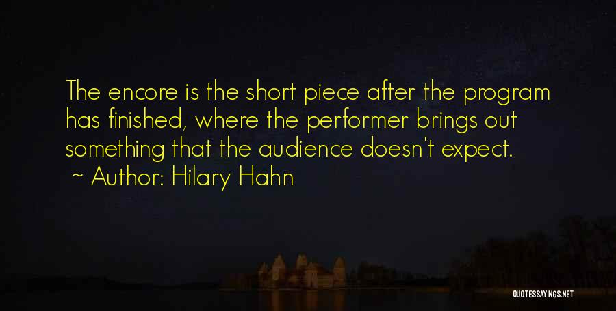 Encore Quotes By Hilary Hahn