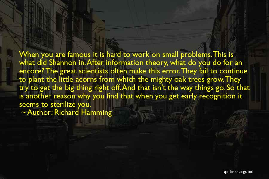 Encore Quotes By Richard Hamming