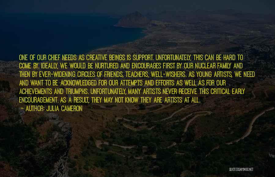 Encouragement For Teachers Quotes By Julia Cameron