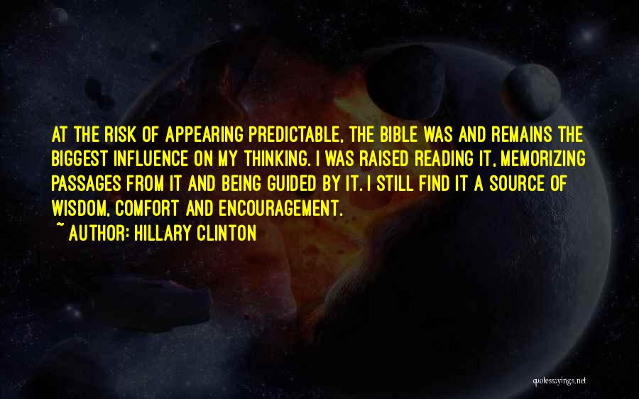 Encouragement From The Bible Quotes By Hillary Clinton
