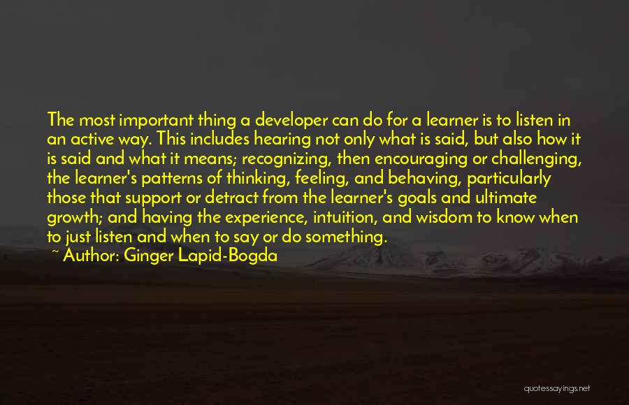 Encouraging Quotes By Ginger Lapid-Bogda