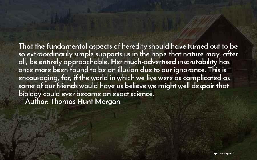 Encouraging Yourself Quotes By Thomas Hunt Morgan