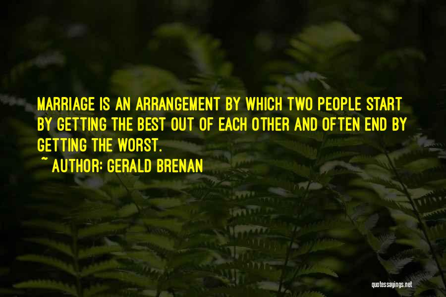 End Of Marriage Quotes By Gerald Brenan