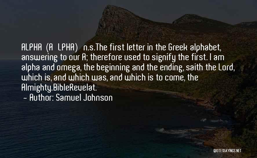 Ending A Letter Quotes By Samuel Johnson