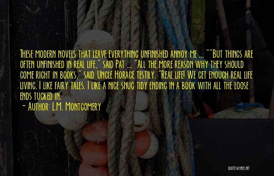Ending Things Quotes By L.M. Montgomery