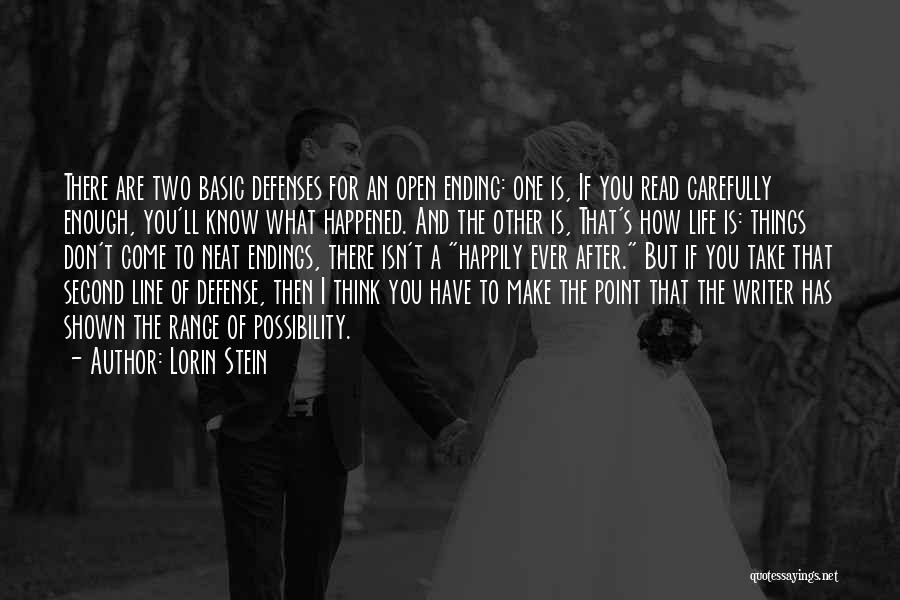 Ending Things Quotes By Lorin Stein