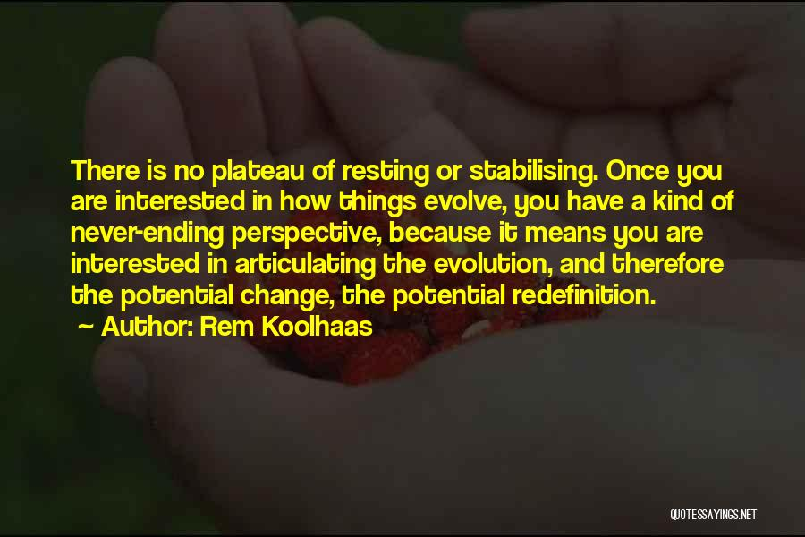 Ending Things Quotes By Rem Koolhaas