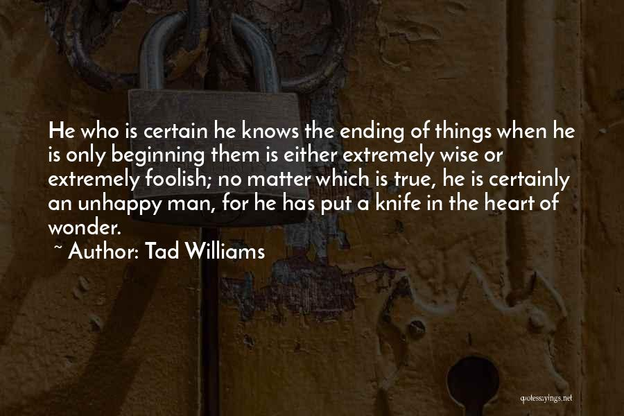 Ending Things Quotes By Tad Williams
