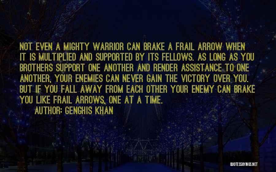 Enemy Brother Quotes By Genghis Khan