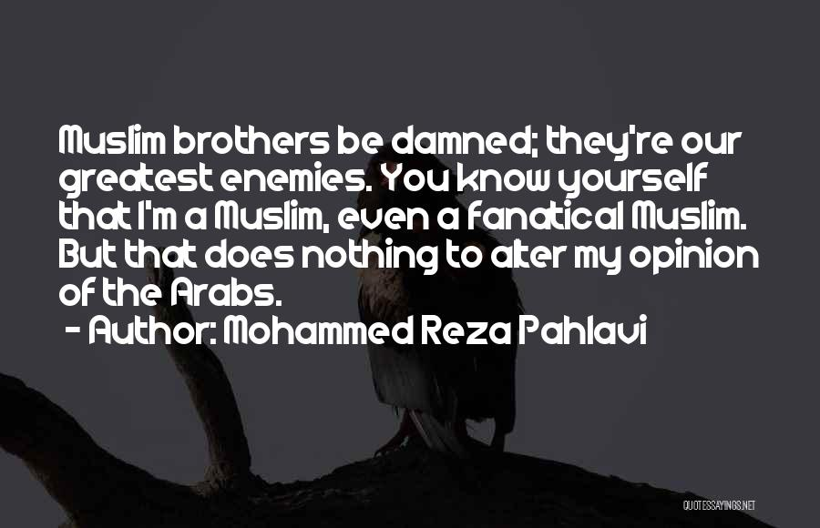 Enemy Brother Quotes By Mohammed Reza Pahlavi