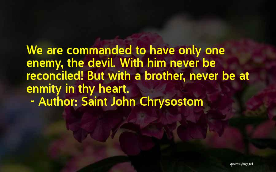 Enemy Brother Quotes By Saint John Chrysostom
