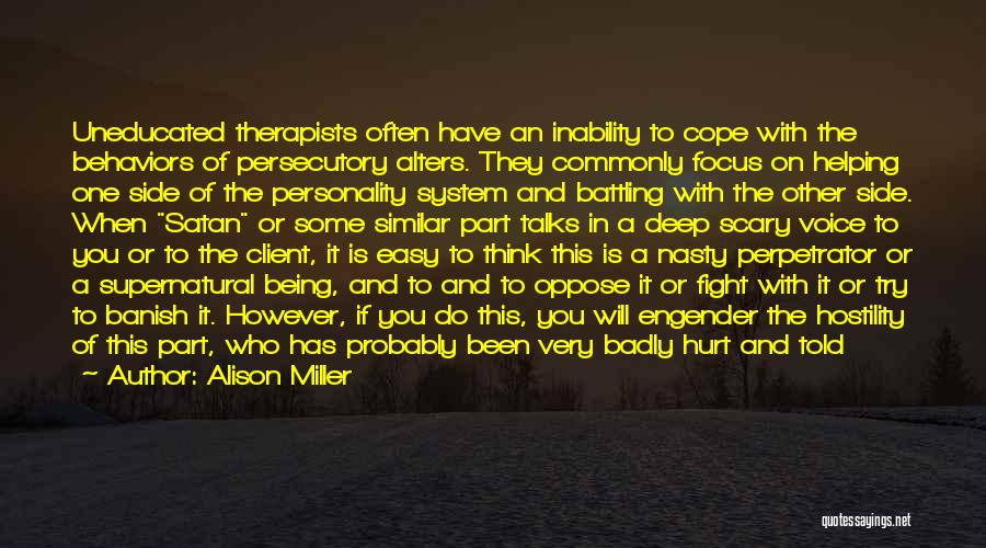 Engender Quotes By Alison Miller