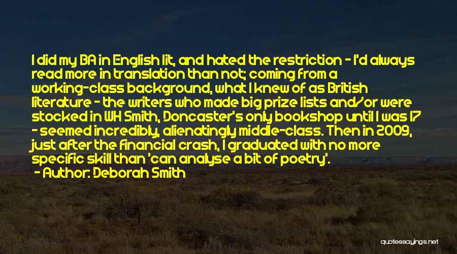 English Class Quotes By Deborah Smith