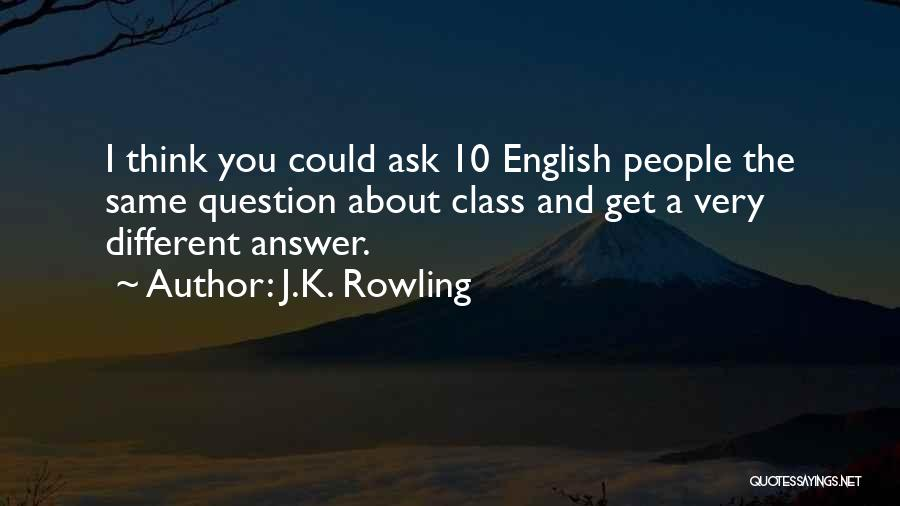 English Class Quotes By J.K. Rowling