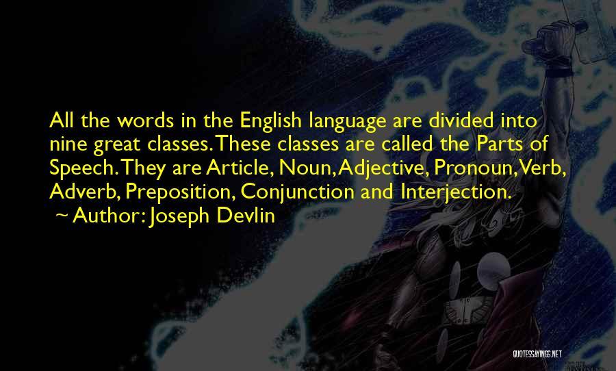 English Class Quotes By Joseph Devlin