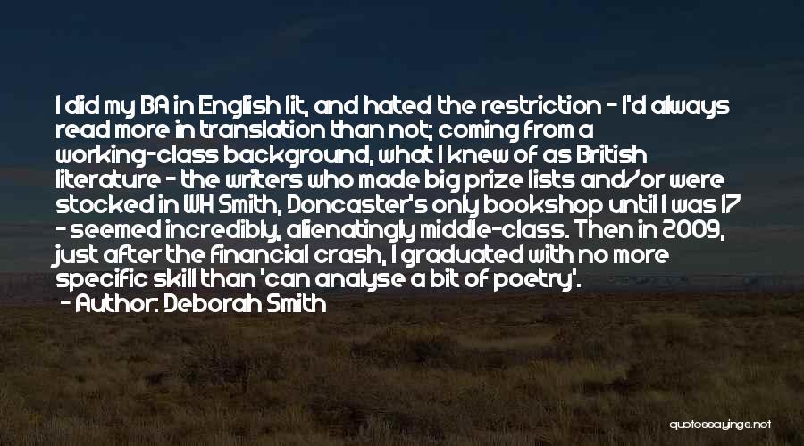 English Lit Quotes By Deborah Smith