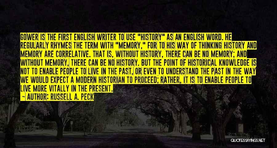 English Lit Quotes By Russell A. Peck