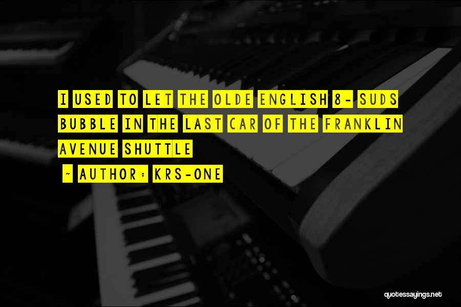 English Rap Quotes By KRS-One