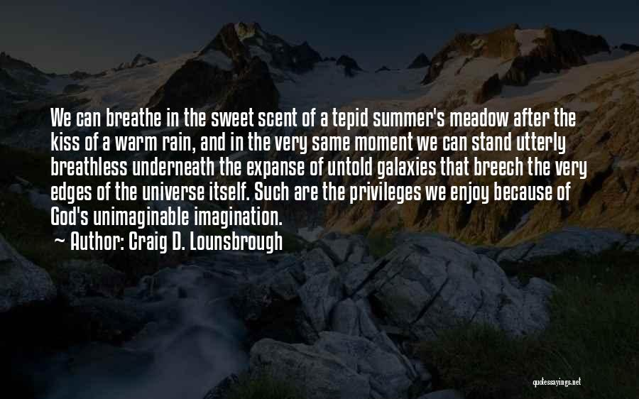 Enjoy The Summer Quotes By Craig D. Lounsbrough