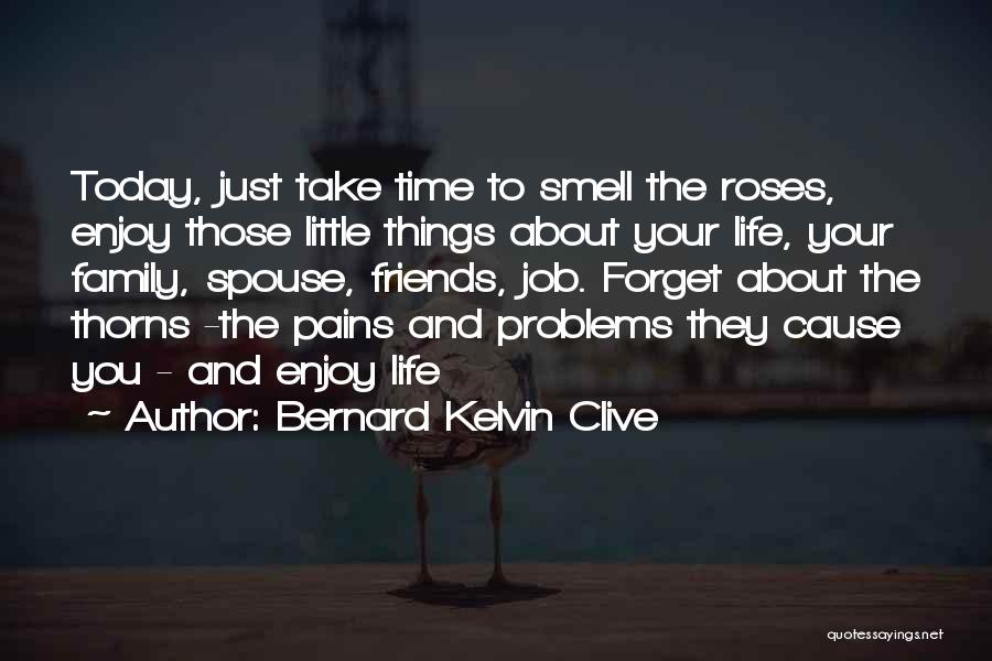 Enjoy Today Quotes By Bernard Kelvin Clive