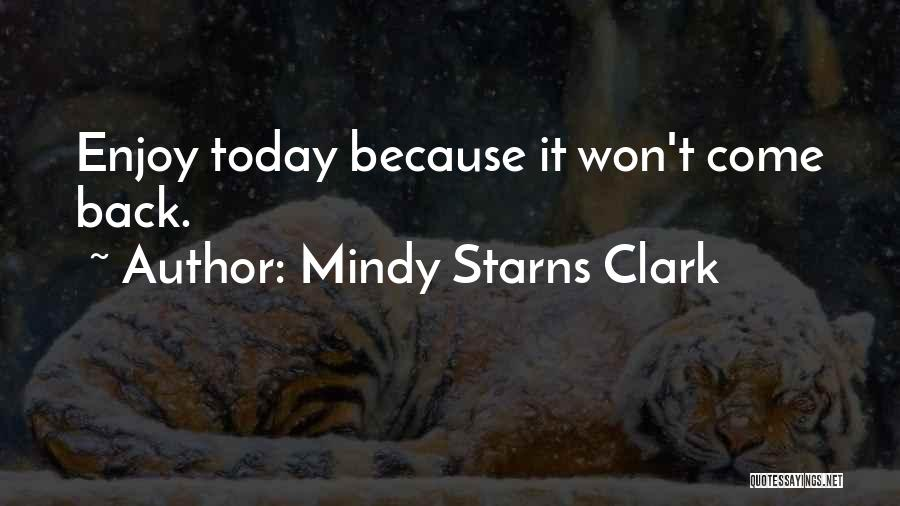 Enjoy Today Quotes By Mindy Starns Clark