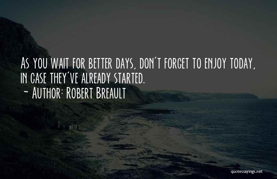 Enjoy Today Quotes By Robert Breault