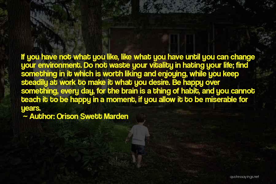 Enjoying Life As It Is Quotes By Orison Swett Marden
