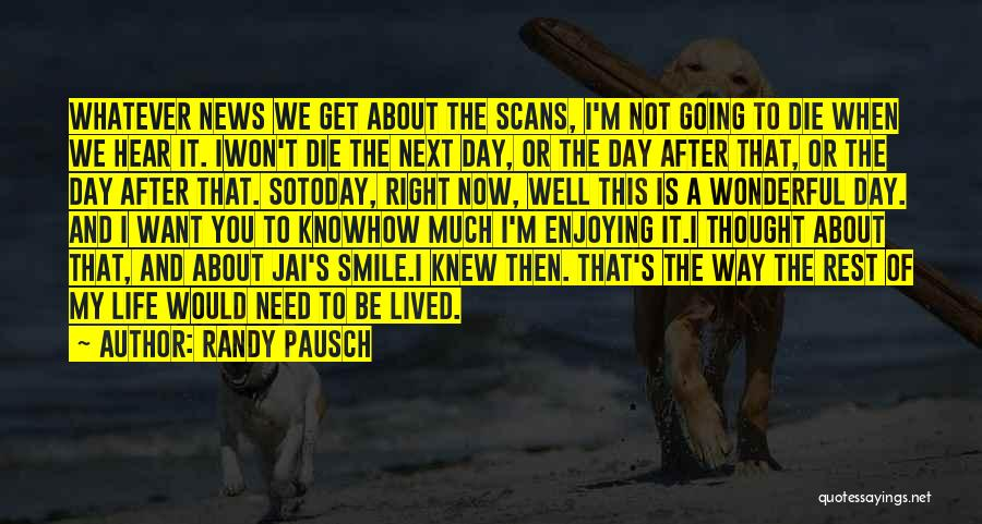 Enjoying Life Now Quotes By Randy Pausch