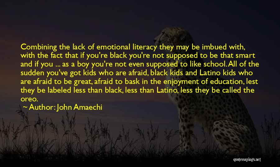 Enjoyment In School Quotes By John Amaechi