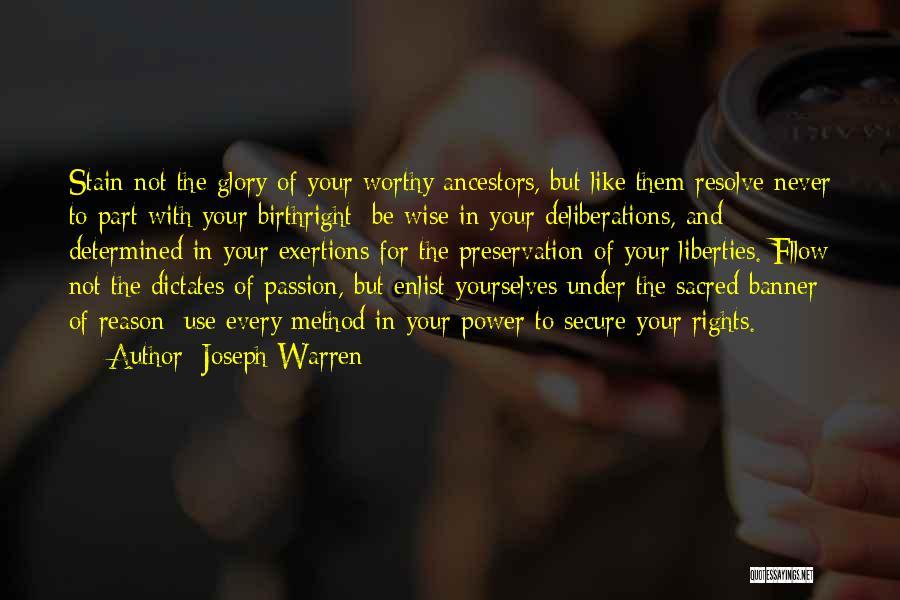 Enlist Quotes By Joseph Warren