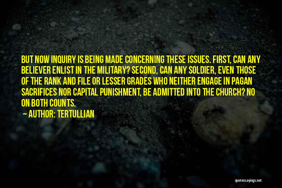Enlist Quotes By Tertullian
