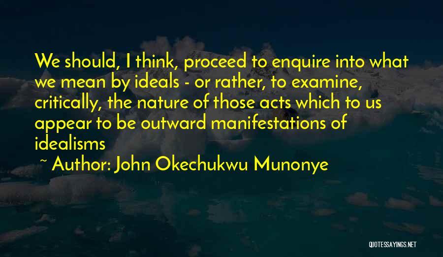 Enquire Quotes By John Okechukwu Munonye