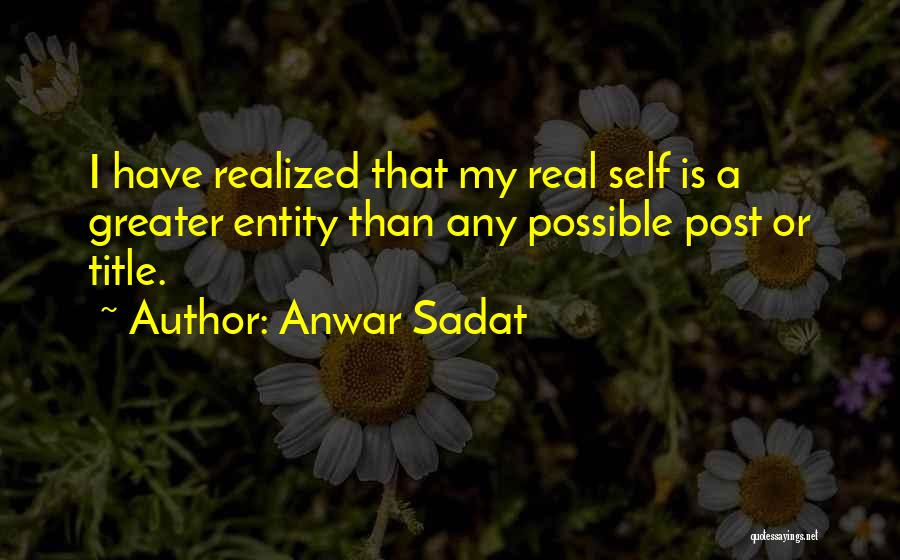 Entity Quotes By Anwar Sadat