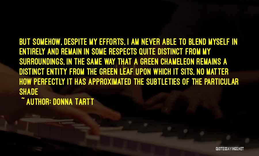 Entity Quotes By Donna Tartt