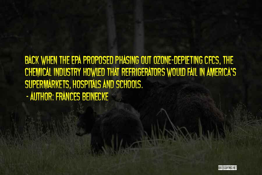Epa Quotes By Frances Beinecke