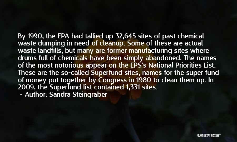 Epa Quotes By Sandra Steingraber