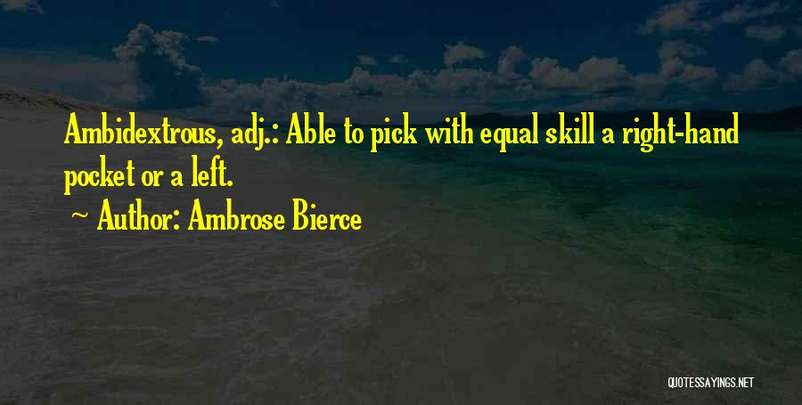 Equal Quotes By Ambrose Bierce