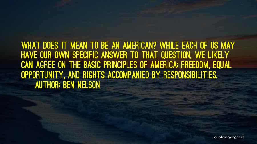 Equal Quotes By Ben Nelson