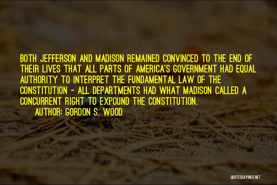 Equal Quotes By Gordon S. Wood