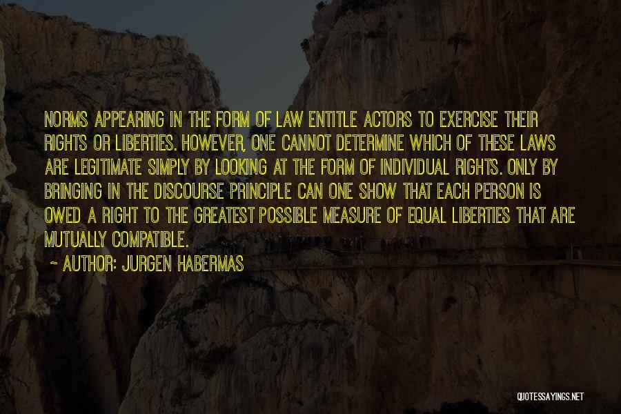 Equal Quotes By Jurgen Habermas