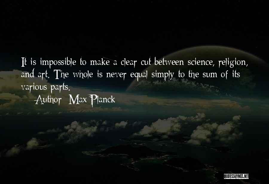 Equal Quotes By Max Planck