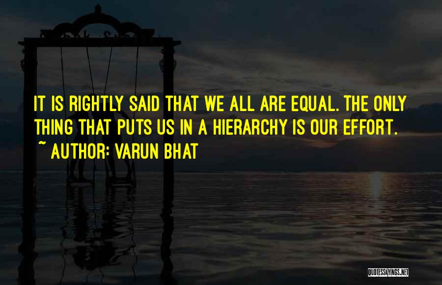 Equal Quotes By Varun Bhat