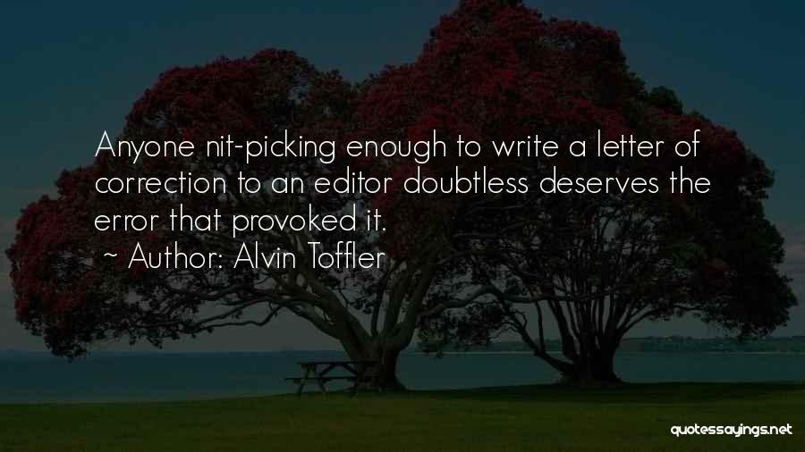 Error Correction Quotes By Alvin Toffler