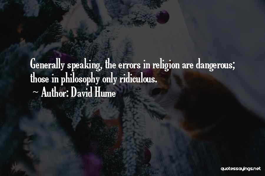 Errors Quotes By David Hume